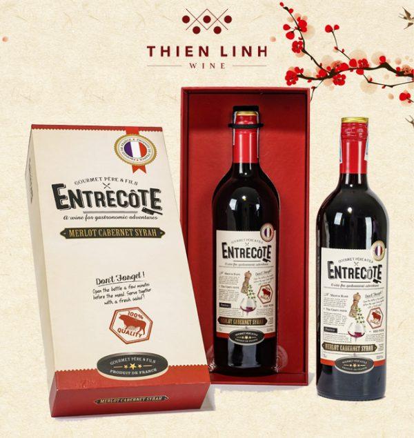 Rượu vang Entrecote Melot Cabernet
