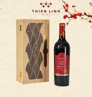 Rượu vang Raymond Huet Bordeaux - Fut De Chene Hộp gỗ